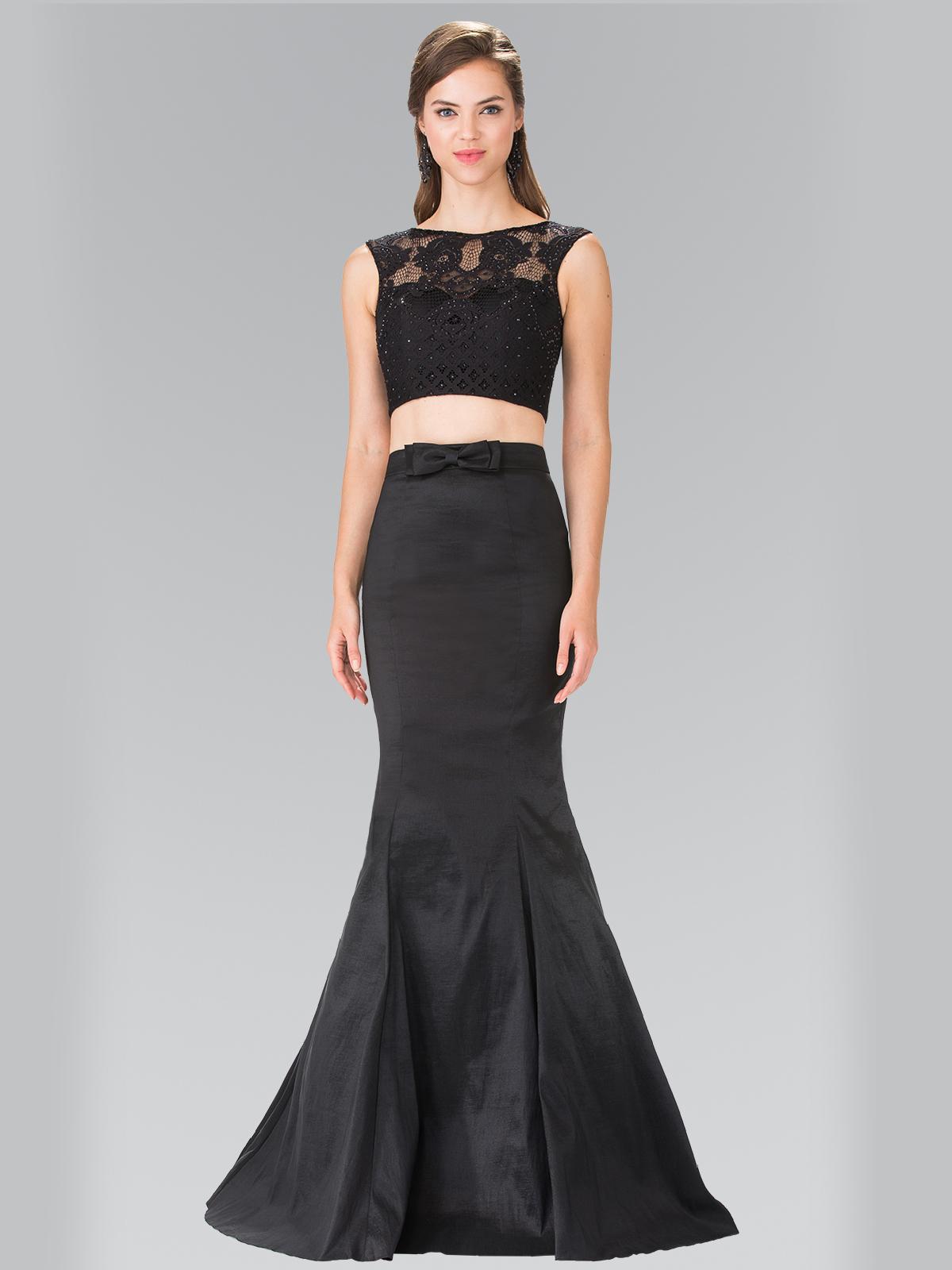 Two Piece Taffeta Long Prom Dress   Sung Boutique L.A.