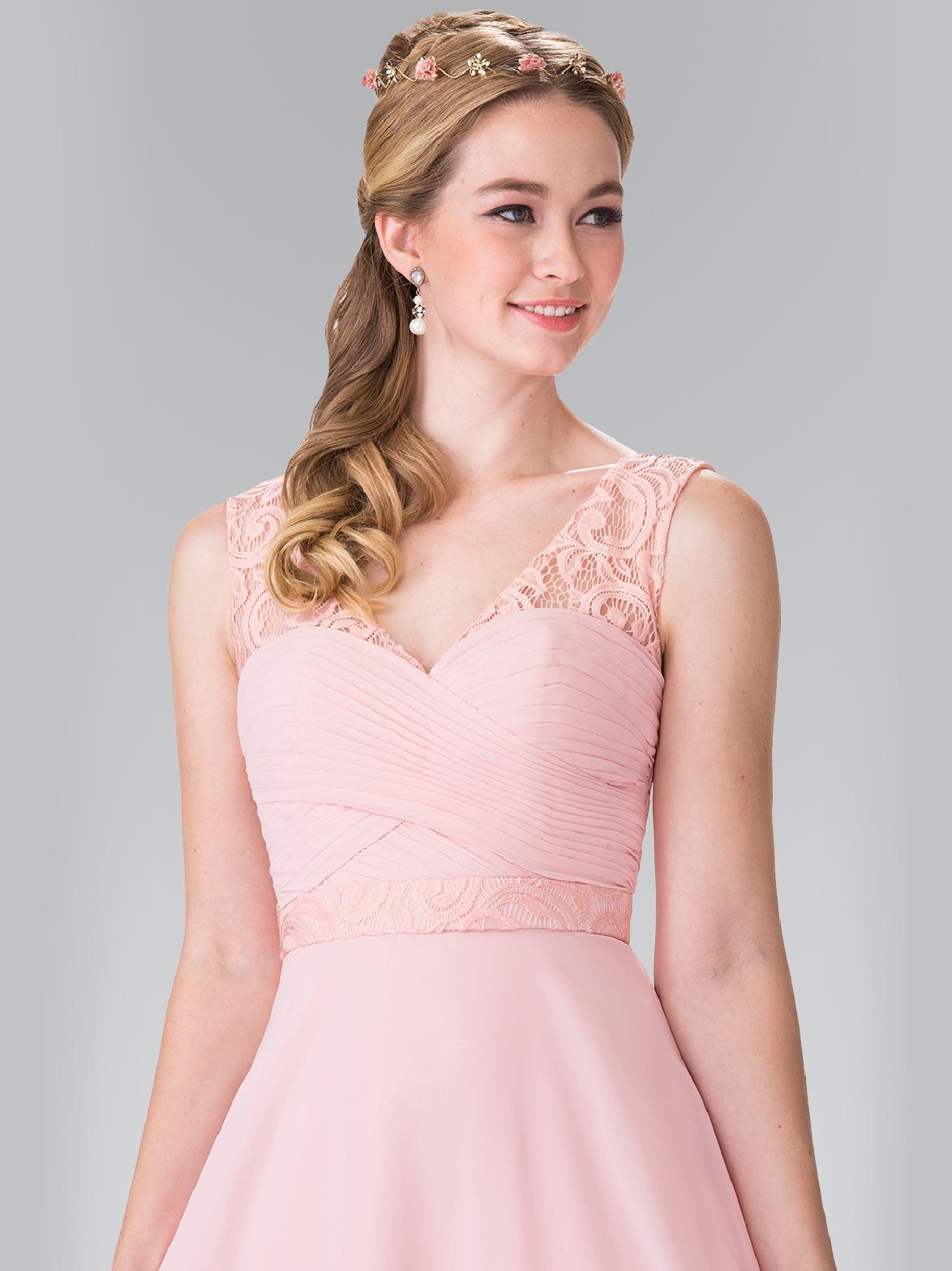 Chiffon bridesmaid dresses with lace straps sung boutique la 50 2363 chiffon bridesmaid dresses with lace straps blush back view medium ombrellifo Gallery