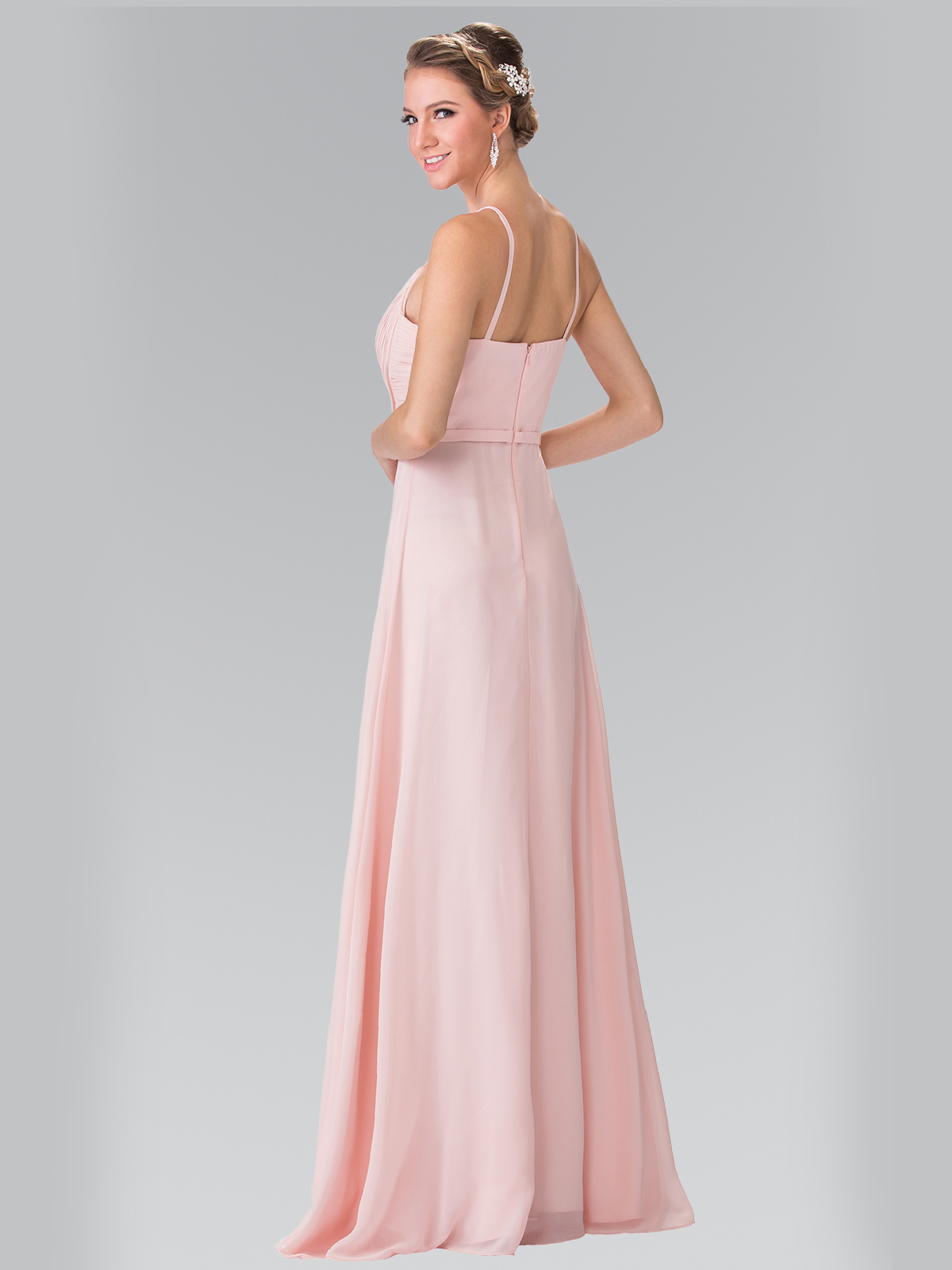 Chiffon Bridesmaid Dress with Spaghetti Straps
