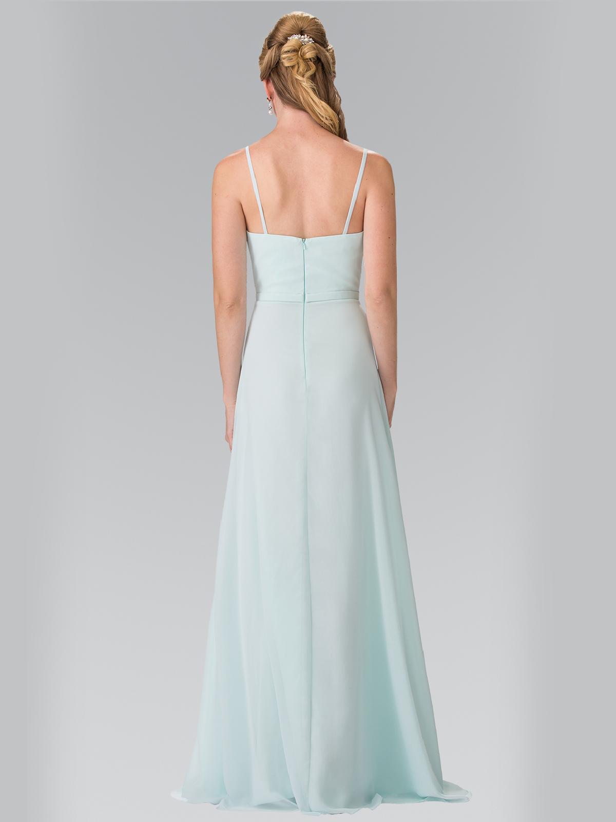Chiffon bridesmaid dress with spaghetti straps sung boutique la 50 2374 chiffon bridesmaid dress with spaghetti straps mint back view medium ombrellifo Gallery