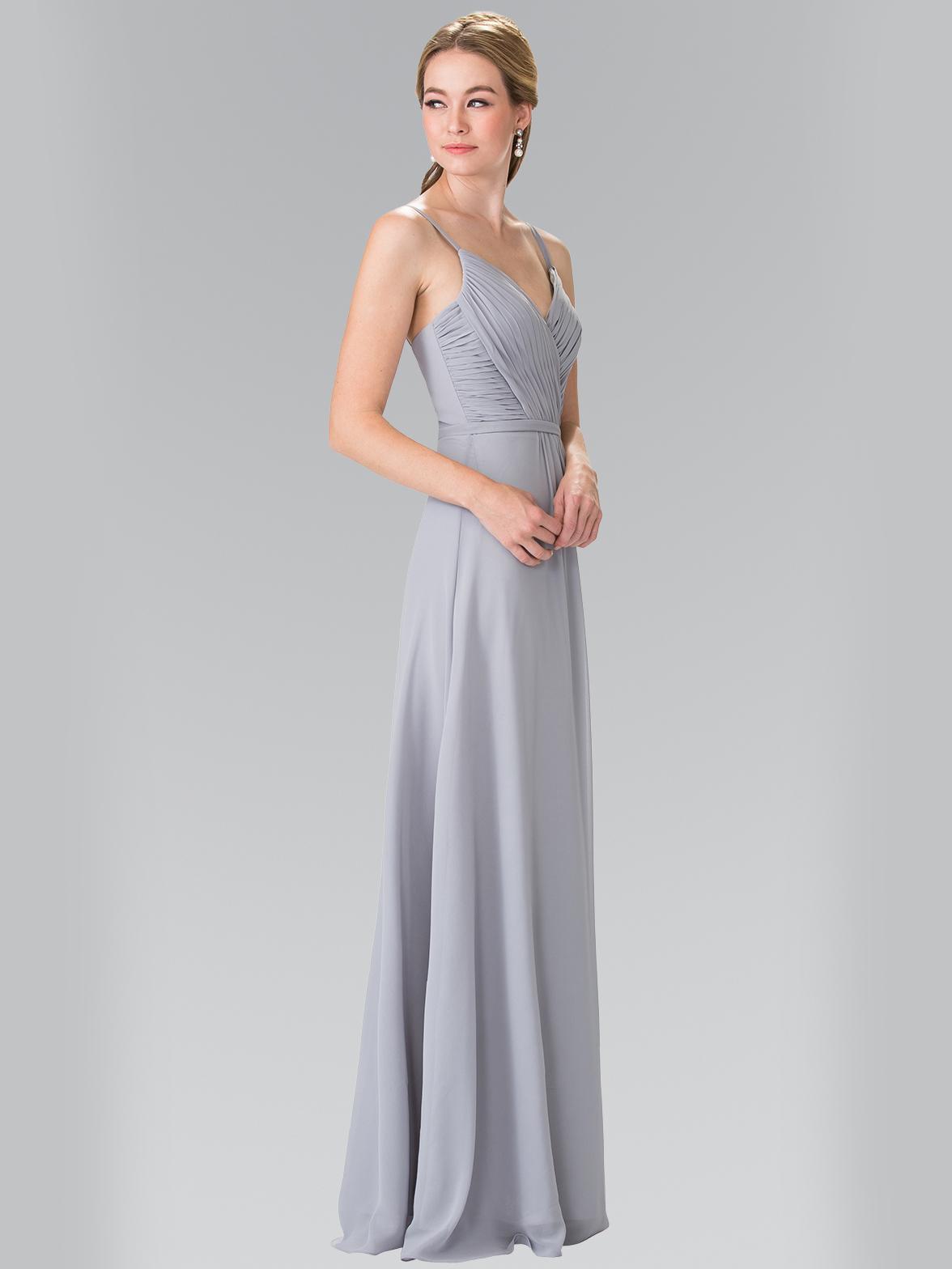 chiffon bridesmaid dress with spaghetti straps