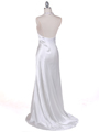 5005  Ivory Satin Evening Dresses - Back Image