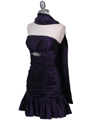 Purple Strapless Pleated Cocktail Dress