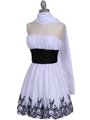 5046 White Cocktail Dress - White, Alt View Thumbnail