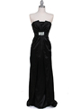 5052 Black Evening Dress - Black, Front View Thumbnail