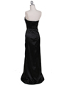 5052 Black Evening Dress - Black, Back View Thumbnail