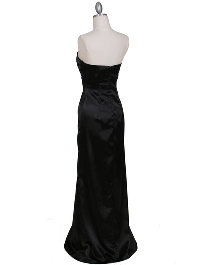 5052 Black Evening Dress - Black, Back View Medium