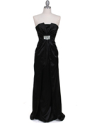 5052 Black Evening Dress, Black