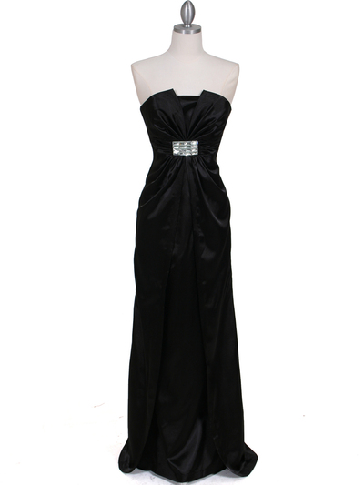 5052 Black Evening Dress - Black, Front View Medium