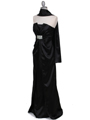 5052 Black Evening Dress - Black, Alt View Thumbnail