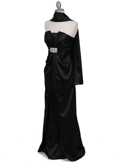5052 Black Evening Dress - Black, Alt View Medium