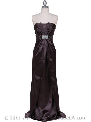 5052 Charcoal Evening Dress, Charcoal