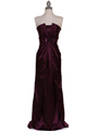 5052 Purple Evening Dress - Purple, Front View Thumbnail