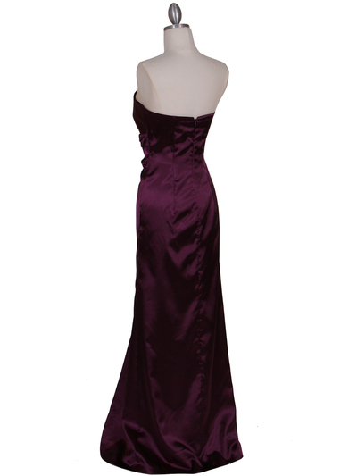 5052 Purple Evening Dress - Purple, Back View Medium