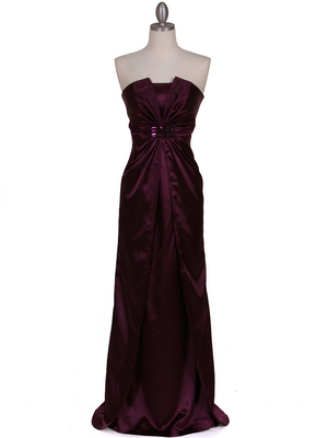 5052 Purple Evening Dress, Purple