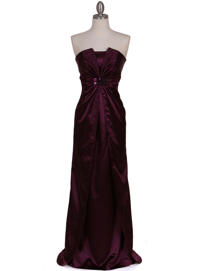 5052 Purple Evening Dress - Purple, Front View Medium