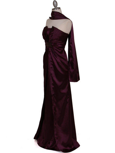 5052 Purple Evening Dress - Purple, Alt View Medium