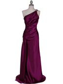 5057 Purple One Shoulder Evening Dress, Purple