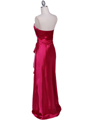 5087 Hot Pink Satin Strapless Evening Dress - Hot Pink, Back View Thumbnail