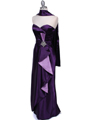 5087 Purple  Satin Strapless Evening Dress - Purple, Alt View Thumbnail