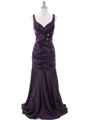 5098 Dark Purple Bridesmaid Dress - Dark Purple, Front View Thumbnail