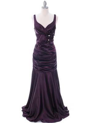 5098 Dark Purple Bridesmaid Dress, Dark Purple