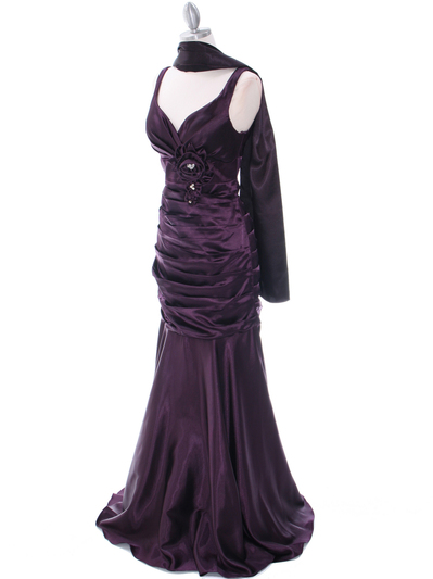 5098 Dark Purple Bridesmaid Dress - Dark Purple, Alt View Medium