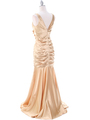 5098 Gold Bridesmaid Dress - Gold, Back View Thumbnail