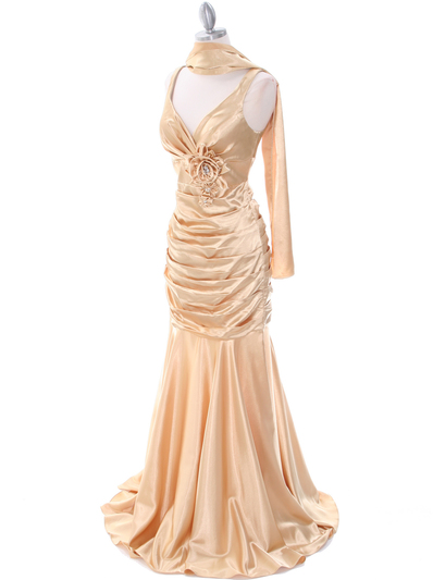 5098 Gold Bridesmaid Dress - Gold, Alt View Medium
