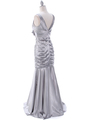 5098 Silver Bridesmaid Dress - Silver, Back View Thumbnail