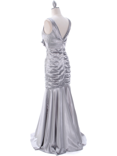 5098 Silver Bridesmaid Dress - Silver, Back View Medium