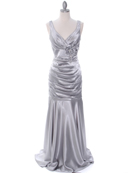 5098 Silver Bridesmaid Dress, Silver
