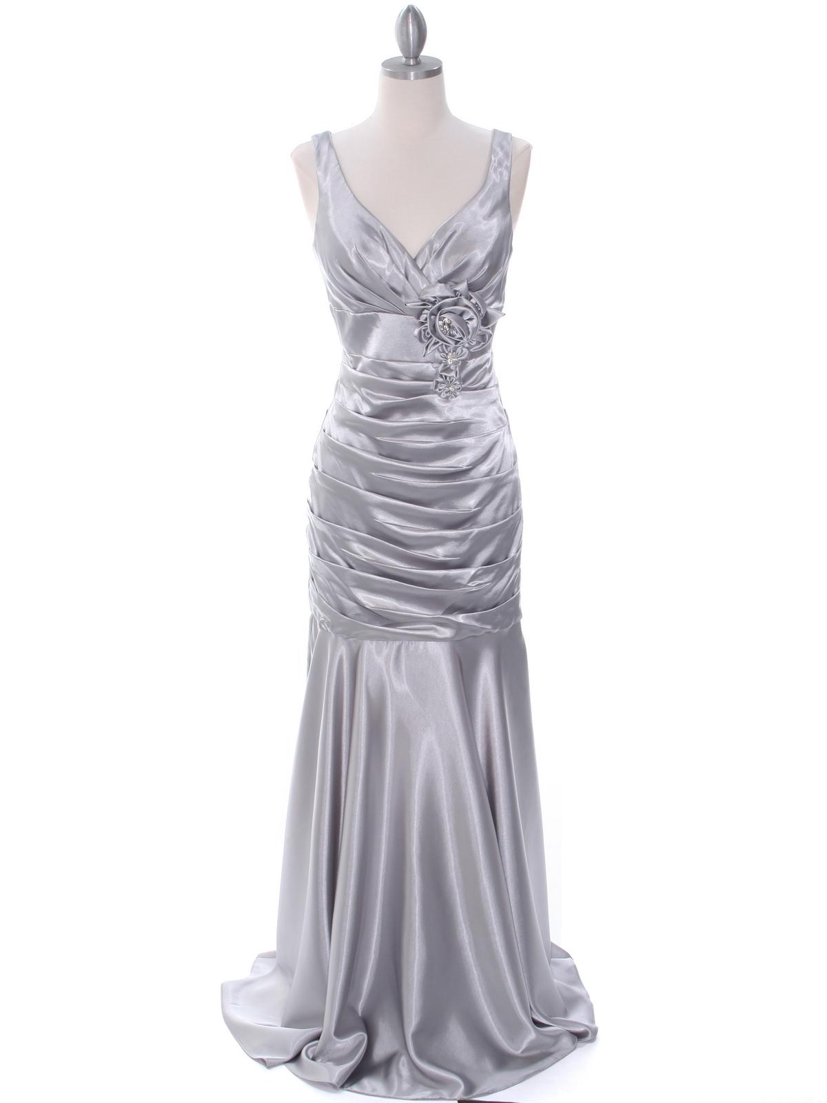 Silver bridesmaid dress sung boutique la 5098 silver bridesmaid dress silver front view medium ombrellifo Gallery
