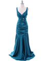 5098 Teal Bridesmaid Dress - Teal, Front View Thumbnail