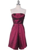 509 Burgundy Taffeta Cocktail Dress, Burgundy