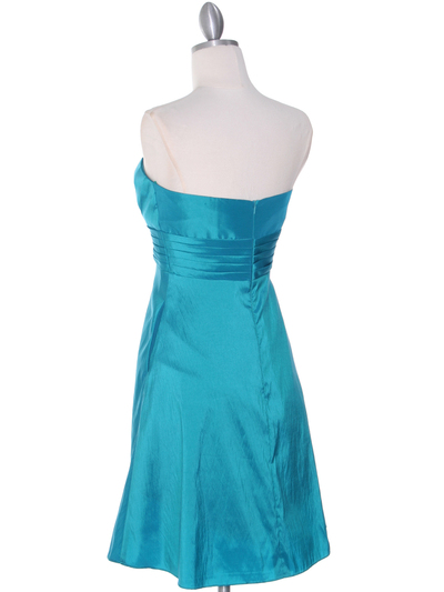 509 Jade Taffeta Bridesmaid Dress - Jade, Back View Medium