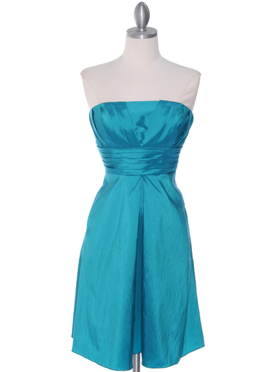 509 Jade Taffeta Bridesmaid Dress - Jade, Front View Medium