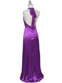 5141 Purple Sequin Top Halter Evening Dress - Purple, Back View Thumbnail