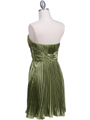 5203 Apple Green Strapless Pleated Cocktail Dress - Apple Green, Back View Thumbnail