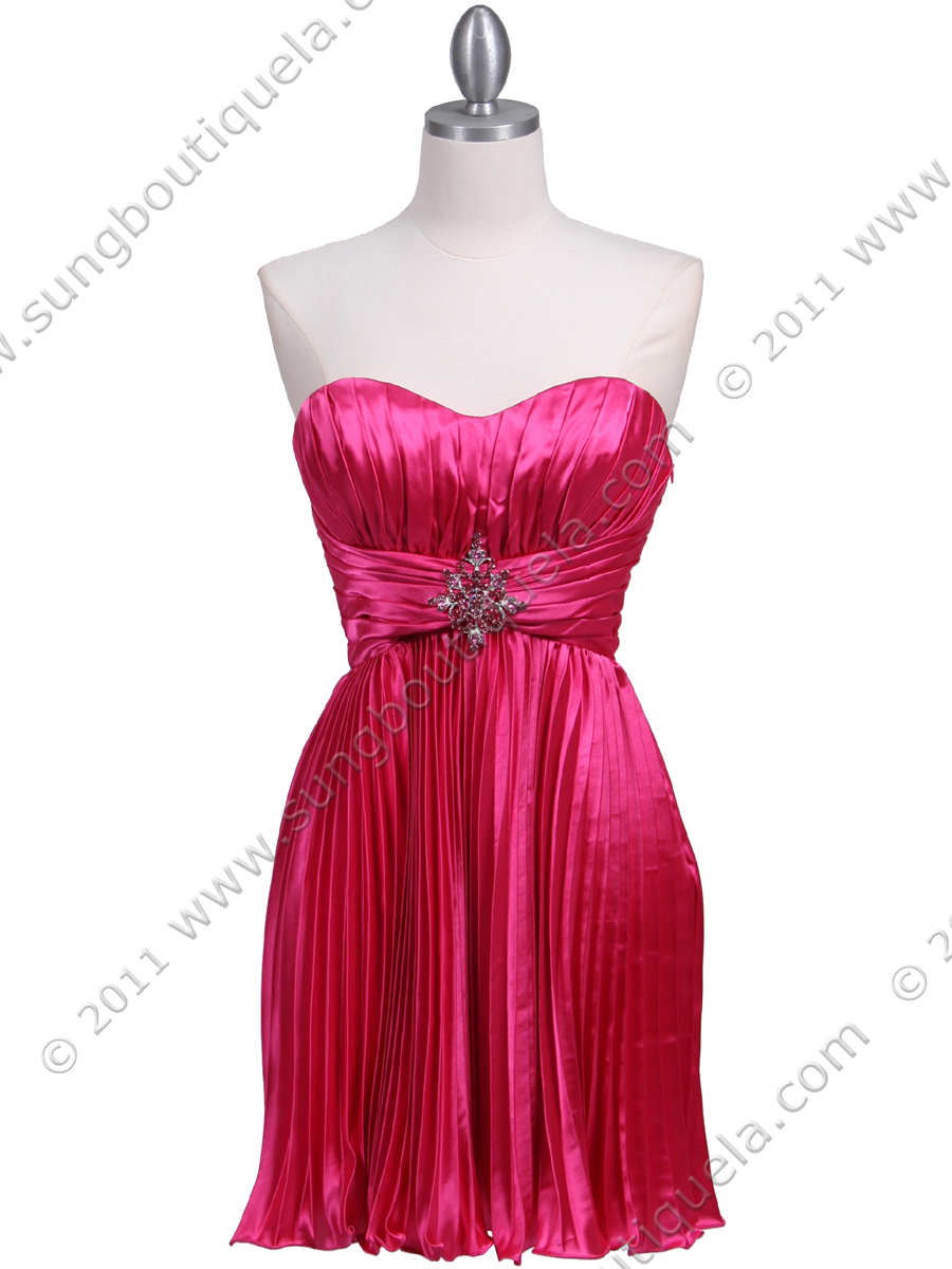 Strapless Hot Pink Dress