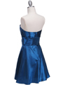 Teal Taffeta Homecoming Dress - Back Image
