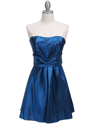 5207 Teal Taffeta Homecoming Dress, Teal