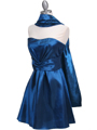 Teal Taffeta Homecoming Dress - Alt Image