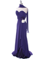 5230 Purple Strapless Evening Dress - Purple, Alt View Thumbnail
