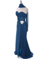 5230 Teal Strapless Evening Dress - Teal, Alt View Thumbnail