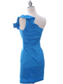 5232  Blue Stretch Taffeta Cocktail Dress - Back Image