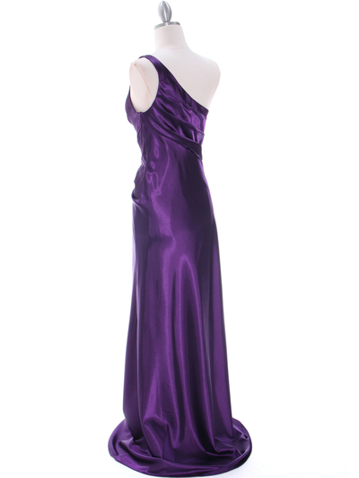 5234 Purple Evening Dress - Purple, Back View Medium