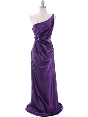 5234 Purple Evening Dress, Purple