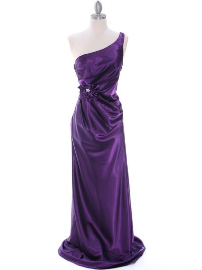5234 Purple Evening Dress - Purple, Front View Medium