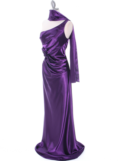 5234 Purple Evening Dress - Purple, Alt View Medium